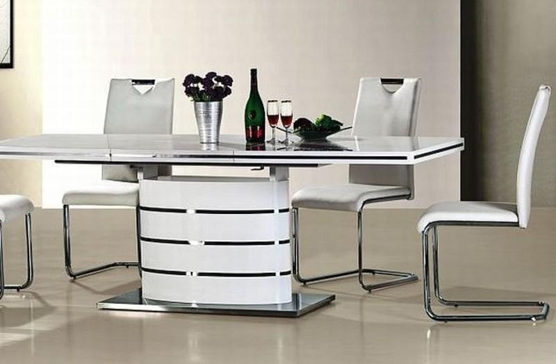 Fancy étkezőasztal modern fehér fényes