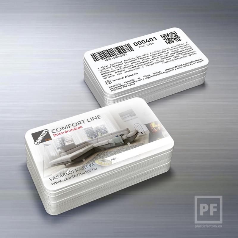 comfort line vásárlói kártya