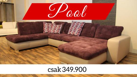 Pool U alakú ülőgarnitúra