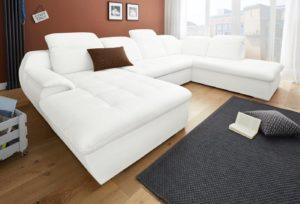 Clenton fehér U form ülőgarnitúra