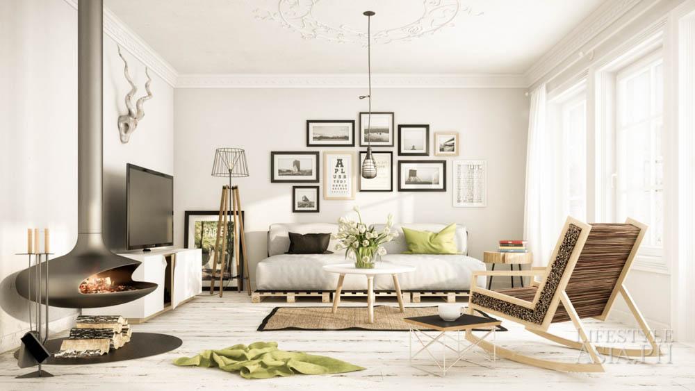 modern dán svéd északi nappali