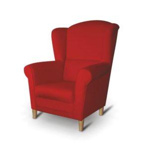füles fotel piros