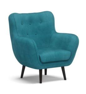Giselle fotel kék türkiz