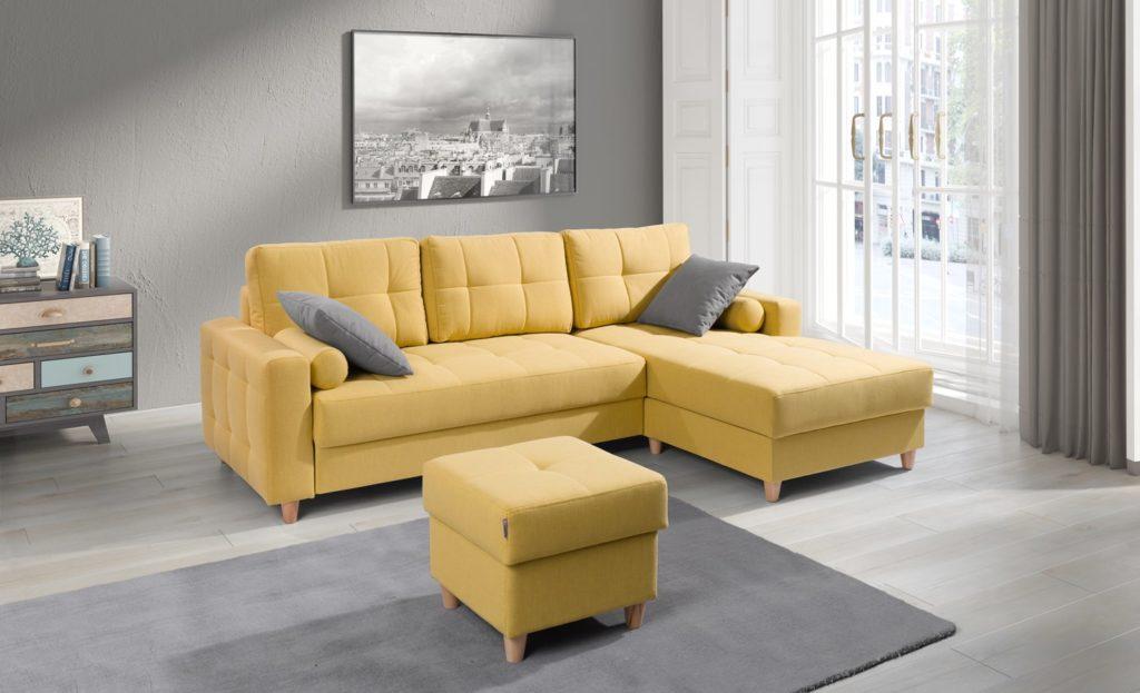 Sybill Sekken kanapé ágyazható sárga
