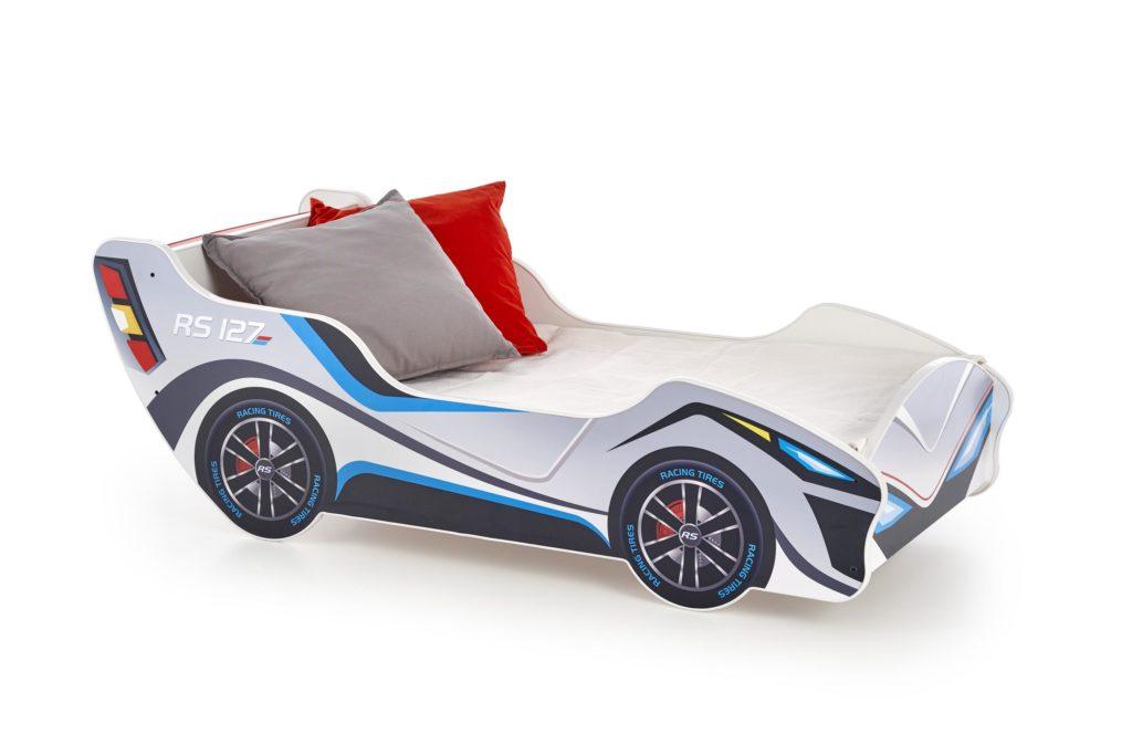 autós gyerekágy gyerek matraccal