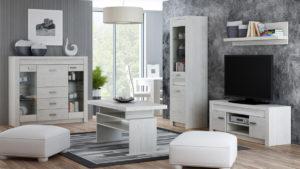 Infinity elemes bútorcsalád fehér kőris