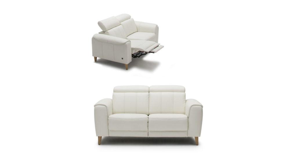 Marocco fehér bőr kanapé
