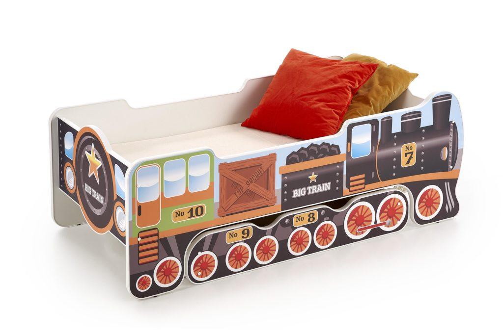 vonatos gyerekágy ágybetéttel