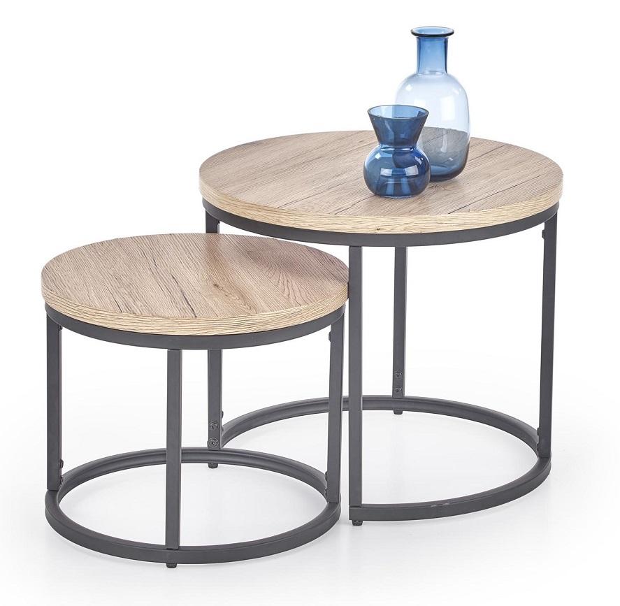 Otília kör alakú asztalka nappaliba