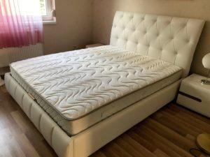 fehér franciaágy matraccal