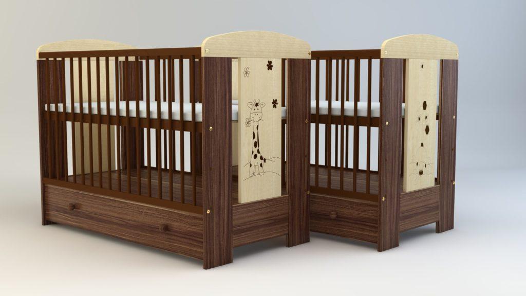Makaó mintás babaágyak