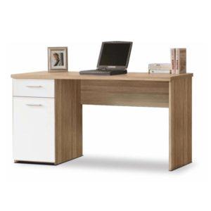 Egon íróasztal fehér sonoma tölgy