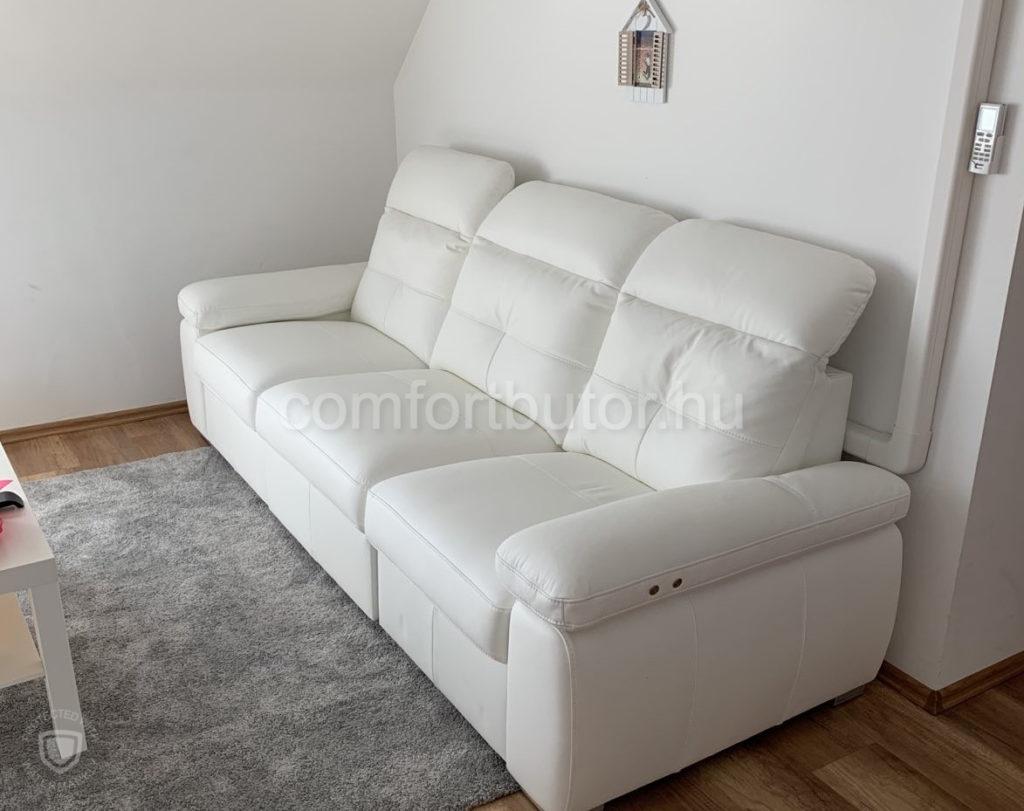 fehér bőr relax kanapé