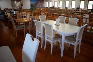 klasszikus fehér étkezőgarnitúra bútorbolt