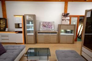 modern LED-es nappali sor szekrénysor