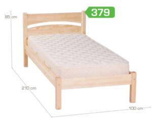 natúr fenyő ágykeret 90 cm
