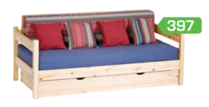fenyő kanapé kihúzható