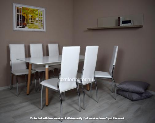 Modern étkezőgarnitúra nyitható asztallal