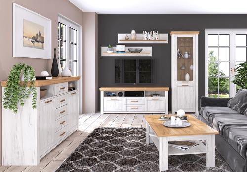 Jolk magasfényű fehér nappali szekrénysor