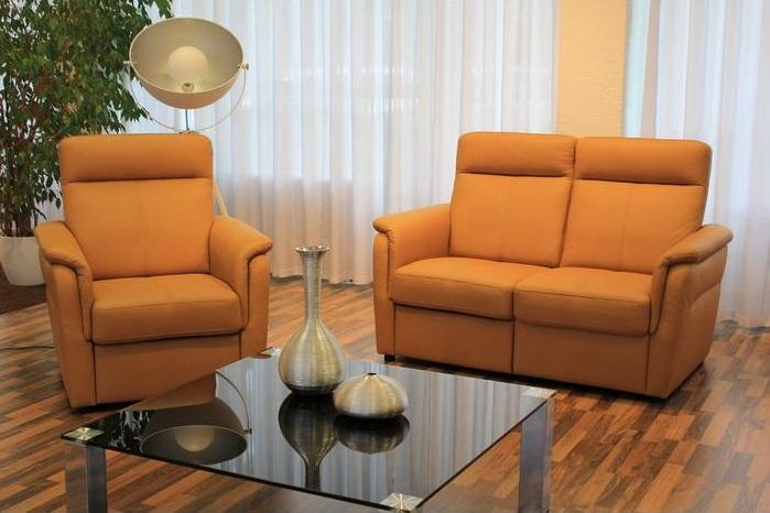 Como fotel és kanapé narancs szövettel