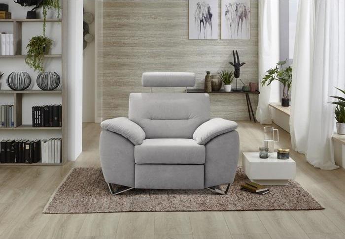 Sardinia design fotel világos szürke