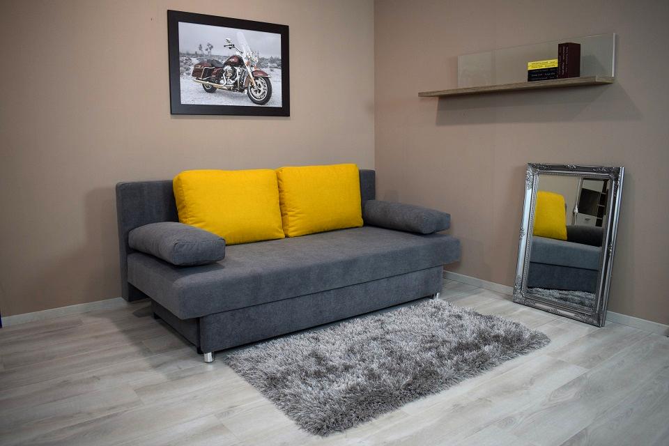 Dalmina kanapéágy szürke - sárga