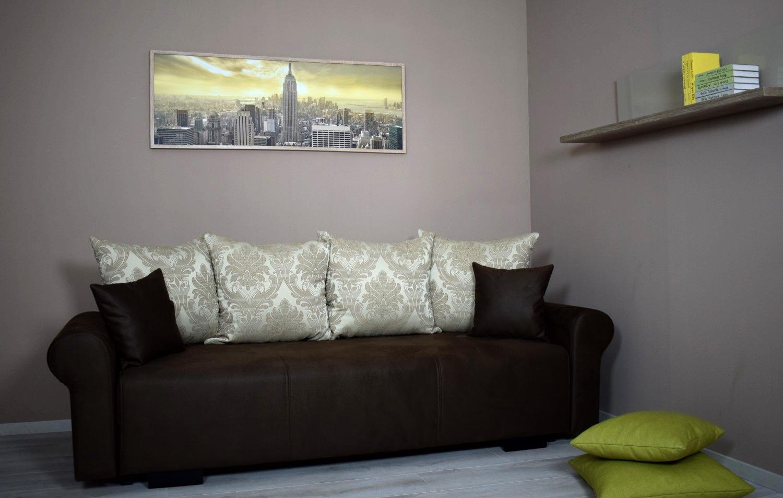Karo sötétbarna kanapéágy