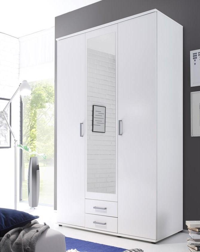 Kira fehér tükrös gardrób szekrény