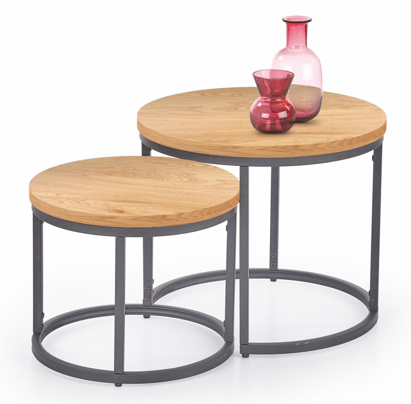 kör alakú asztalka szett