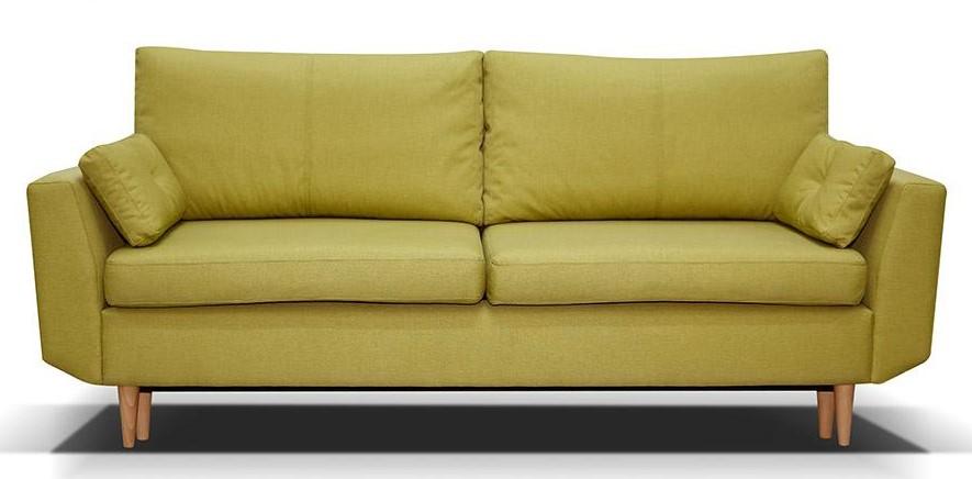 Bernarda sárga kanapé fa lábakkal