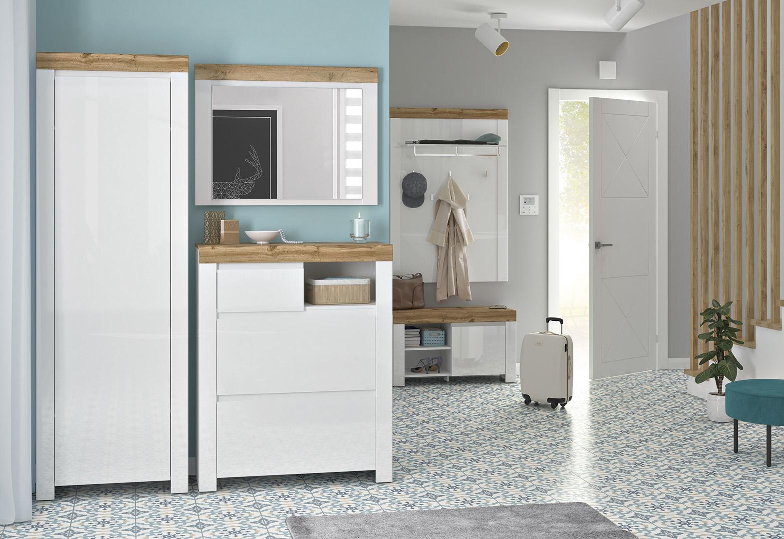 Holten előszoba fehér modern bútor összeállítás