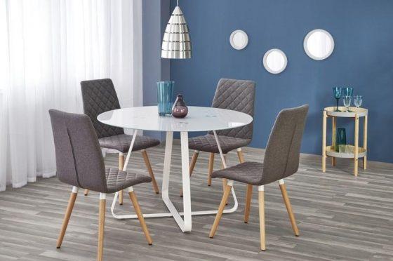 Liverpool étkező szett Az asztal átmérője 115 cm. A székek külön is megvásárolhatóak.